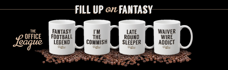 Fill up on fantasy with a fantasy football coffee mug from Fantag, the leader in fantasy apparel