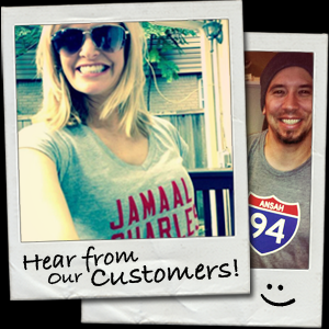 Hear from our customers! They love wearing fantasy football and fantasy baseball t-shirts from Fantag.