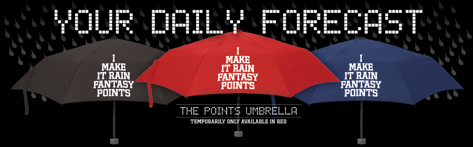 Make it rain with the world's only fantasy points umbrella from Fantag, the leader in fantasy apparel