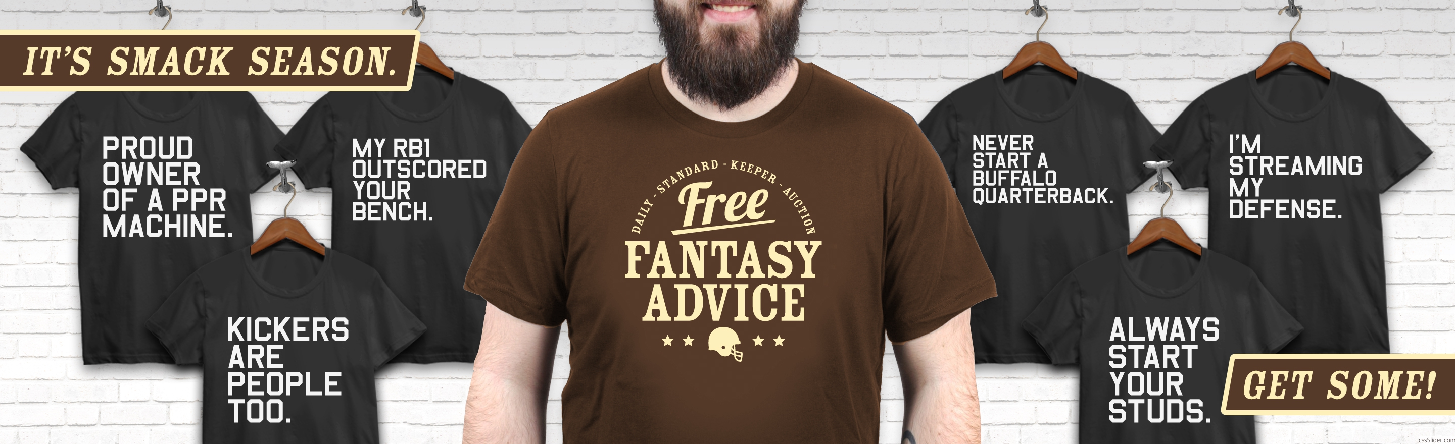 Fantasy Sports Apparel, designed by Matthew Lee Rosen.