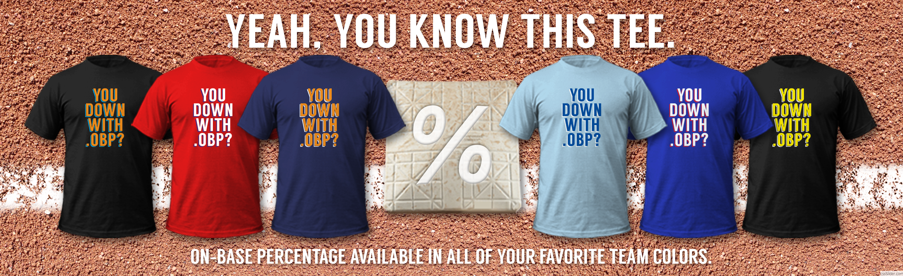 OBP - Fantasy Sports Apparel, designed by Matthew Lee Rosen.